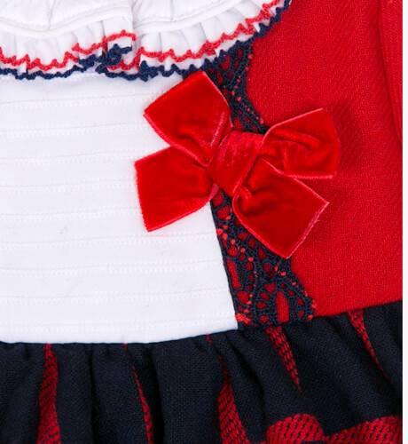 Jesusito rojo falda cuadros de Dolce Petit | Aiana Larocca