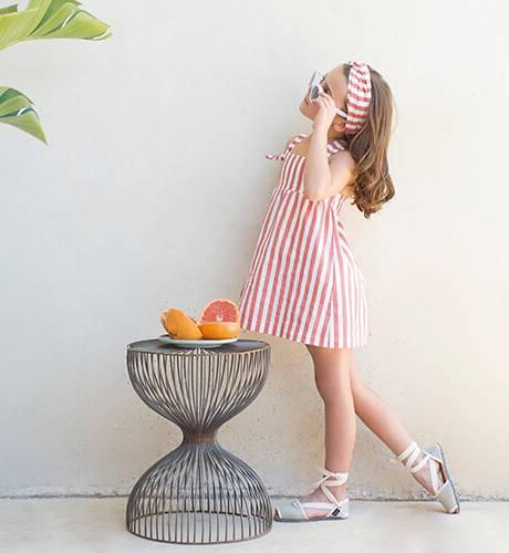 Vestido niña a rayas rojo y blanco de Eve Children | Aiana Larocca