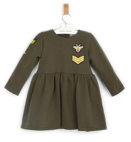 Vestido verde militar de Mon Petit Bonbon | Aiana Larocca