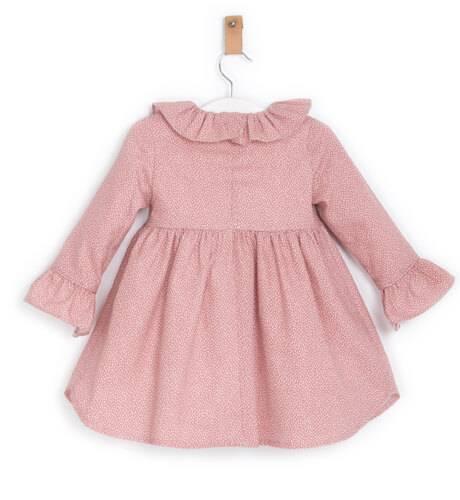 Vestido rosa volante mangas de Ancar | Aiana Larocca