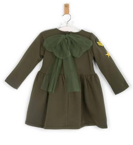Vestido verde militar de Mon Petit Bonbon   Aiana Larocca