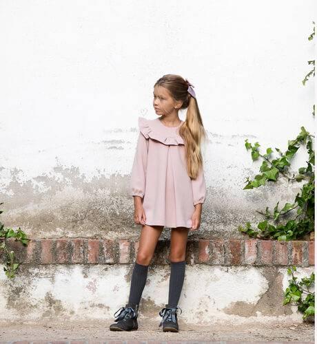 Vestido evasé rosa lazo espalda de Nekenia | Aiana Larocca