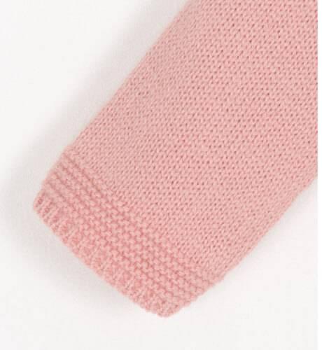 Conjunto jersey rosa gato y braguita marino de Foque | Aiana Larocca