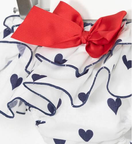 Conjunto camiseta y braguita corazones de Mont Petit Bonbon   Aiana Larocca