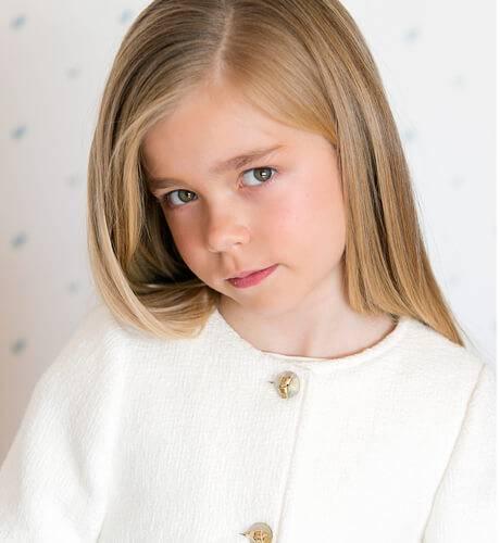Chaqueta niña crudo de Fina Ejerique | Aiana Larocca