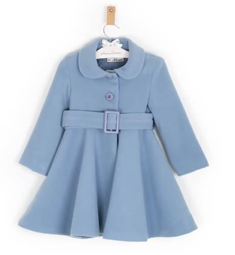 Abrigo niña muflon azul de Nekenia   Aiana Larocca