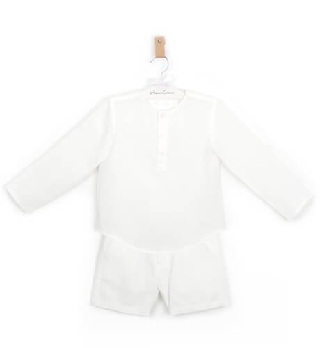 Camisa niño lino crudo | Aiana Larocca