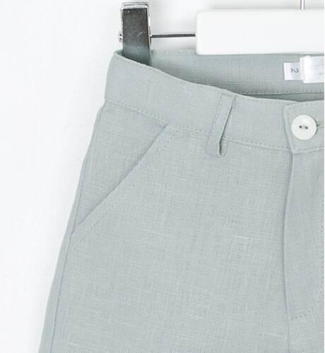 Pantalón niño ceremonia lino verde agua | Aiana Larocca