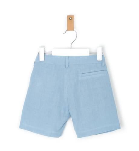 Pantalón niño ceremonia lino azul | Aiana Larocca