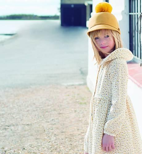 Vestido liberty Moutard de Eve Children | Aiana Larocca