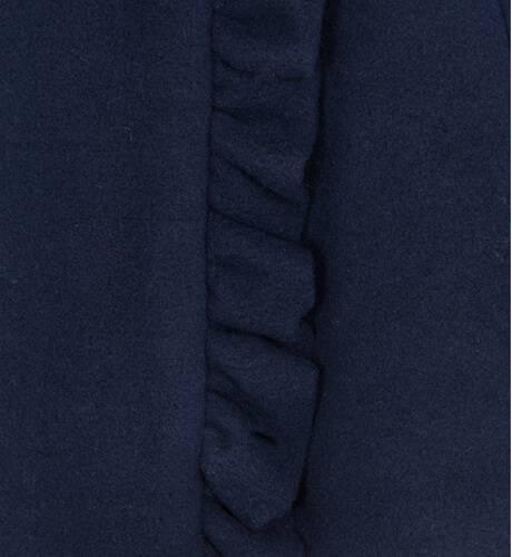 Abrigo niña marino con cuello pelo de Dolce Petit | Aiana Larocca