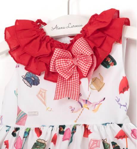 Vestido niña Poppins estampado de La Amapola - Diverdress | Aiana Larocca