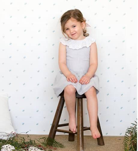 -NUEVO- Vestido niña topitos grises de Fina Ejerique   Aiana Larocca