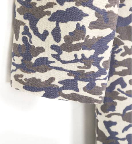 Abrigo niña estampado manchas azul de Nekenia | Aiana Larocca