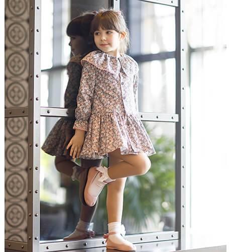Vestido niña estampado liberty de Coco Acqua | Aiana Larocca