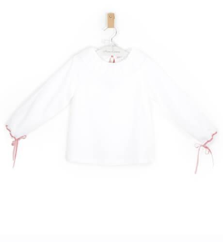 Blusa blanca detalle terciopelo de Eva Jeréz | Aiana Larocca