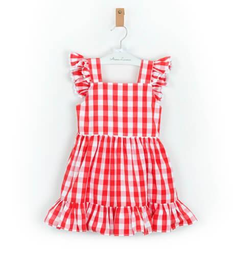 Vestido Niña Vichy Rojo Con Lazada Aiana Larocca Aiana