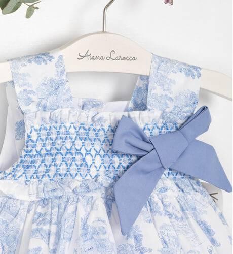 Jesusito nidos toile & lazo azul de Valentina Bebés | Aiana Larocca