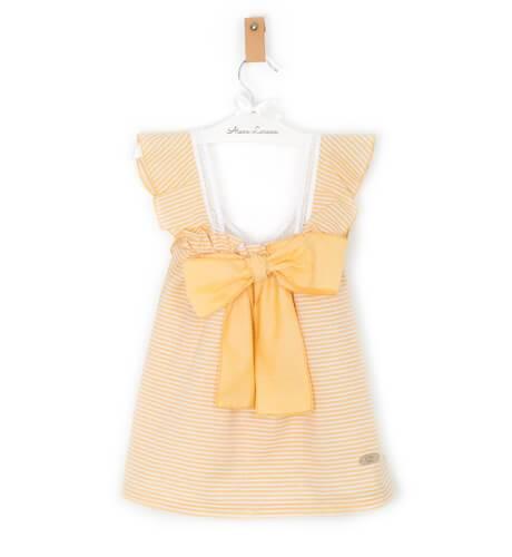 Vestido a rayas amarillas de Eve Children   Aiana Larocca