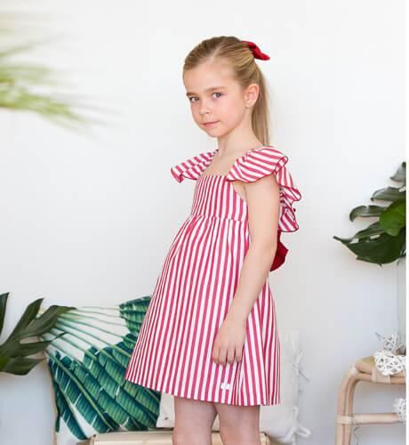 -NUEVO- Vestido niña rayas rojas de Eve Children | Aiana Larocca