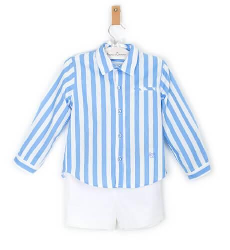 cb8b94691 Conjunto niño camisa a rayas de Marta y Paula