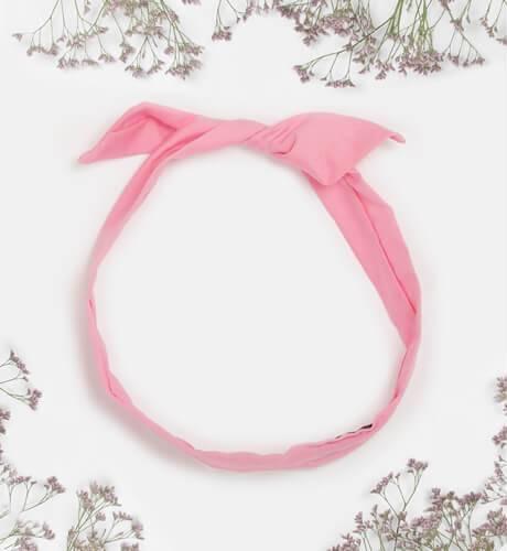 Turbante rosa familia monitos de Mon Petit Bonbón | Aiana Larocca