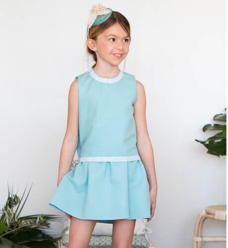 -NUEVO- Vestido lino turquesa de Ancar | Aiana Larocca