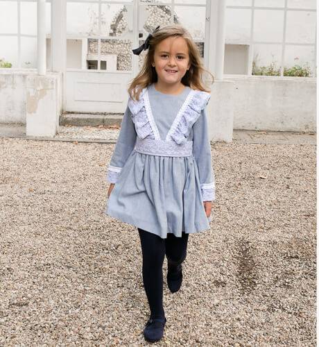 Vestido niña detalle puntilla de Nekenia | Aiana Larocca