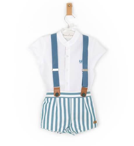 Conjunto bebé niño pantalón tirantes de Marta y Paula | Aiana Larocca