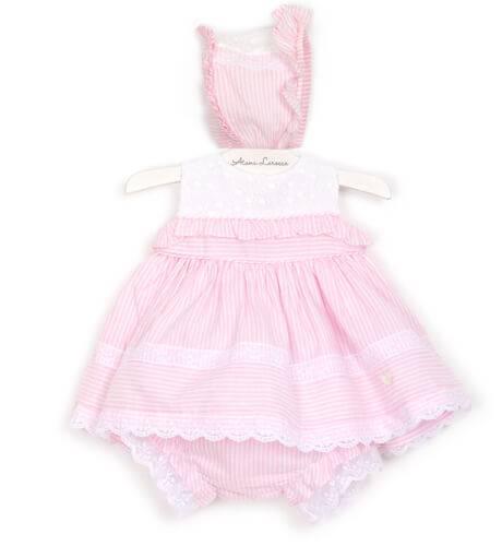 Jesusito bebé a rayas rosa de Dolce Petit | Aiana Larocca