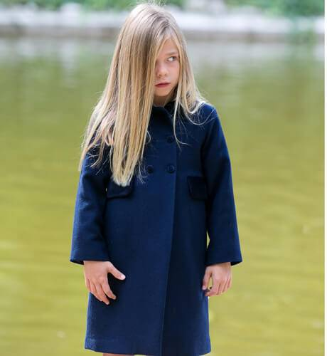 Abrigo inglés unisex marino de Rigans | Aiana Larocca