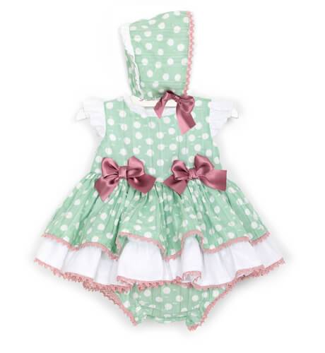 Jesusito bebé verde topitos blanco de Dolce Petit   Aiana Larocca