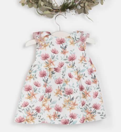 Vestido bebe estampado floral de Yoedu | Aiana Larocca