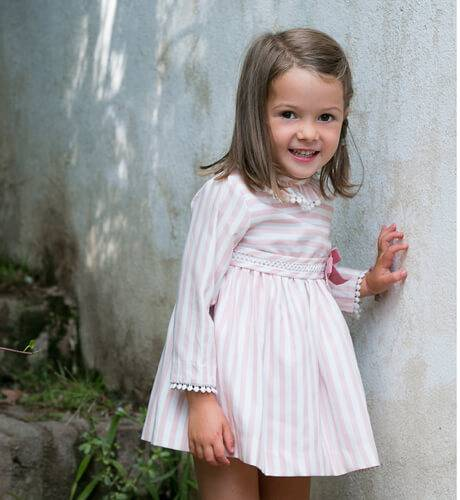 Jesusito bebé niña a rayas de Cocote | Aiana Larocca
