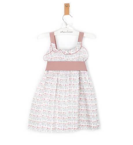 Vestido tirantes cruzados lazada rosa de Ancar | Aiana Larocca