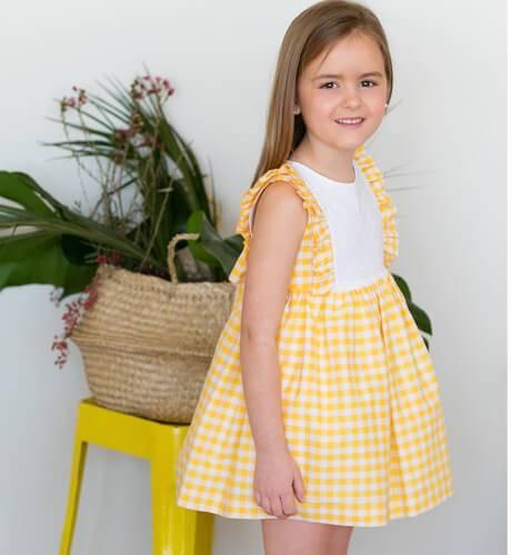 -NUEVO- Vestido niña amarillo de Blanca Valiente | Aiana Larocca