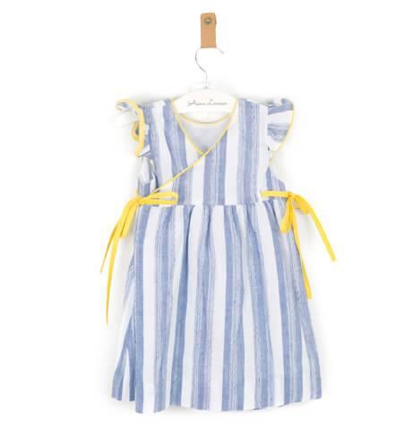 -NUEVO- Vestido a rayas detalle amarillo de Ancar | Aiana Larocca
