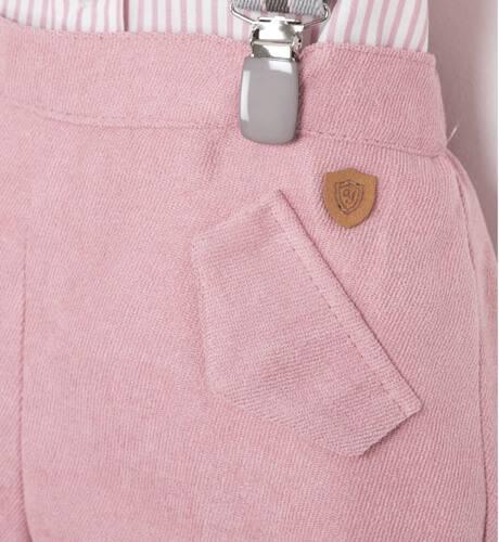 Conjunto niño camisa a rayas rosa de Yoedu | Aiana Larocca