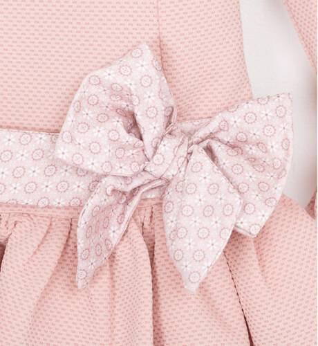 Vestido punto rosa volantes de Nekenia | Aiana Larocca