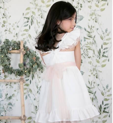 -NUEVO- Vestido niña esencia lino de Aiana Larocca | Aiana Larocca