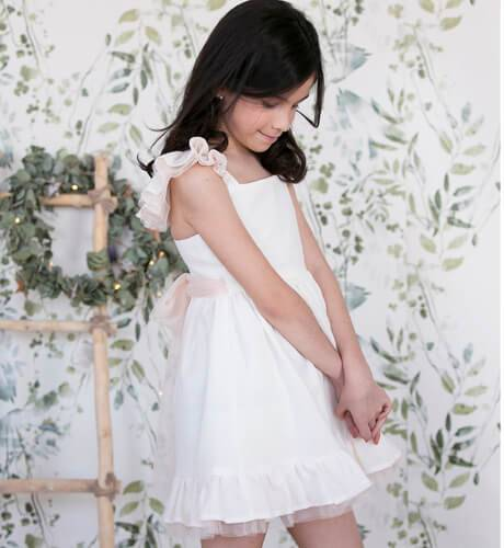 Vestido niña esencia lino de Aiana Larocca   Aiana Larocca