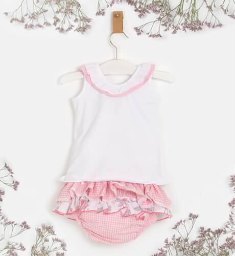 Conjunto bebe niña camiseta ratita y braguita de La Amapola Diverdress | Aiana Larocca