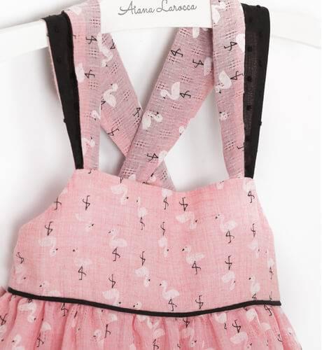 Vestido rosa tirantes flamencos de Ancar | Aiana Larocca