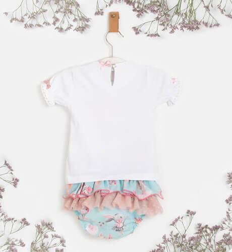 Conjunto bebe niña camiseta ballerina y braguita de La Amapola Diverdress | Aiana Larocca