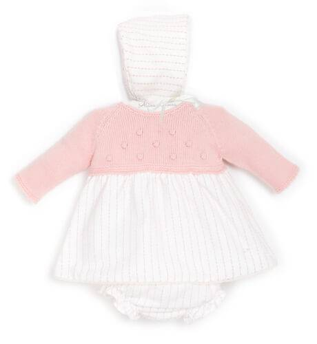 Jesusito bebé combinado punto rosa empolvado de Micolino | Aiana Larocca