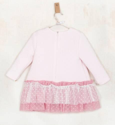 Vestido niña rosa talle bajo falda tul de Yoedu | Aiana Larocca
