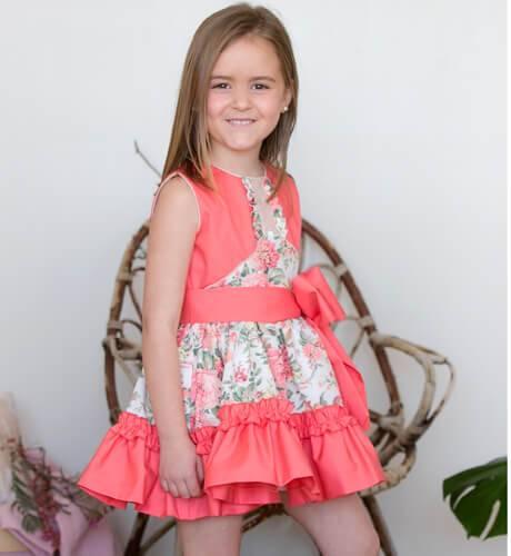 -NUEVO- Vestido niña estampado coral de Nekenia | Aiana Larocca
