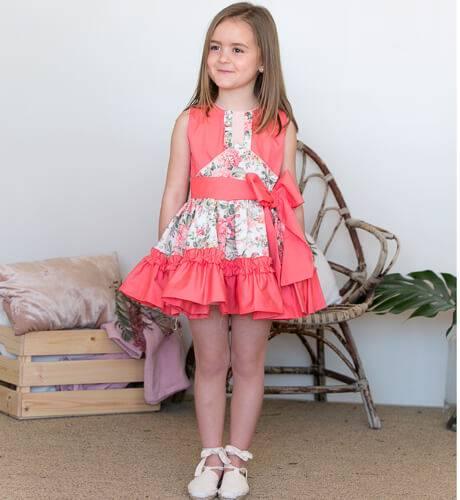 Vestido niña estampado coral de Nekenia   Aiana Larocca