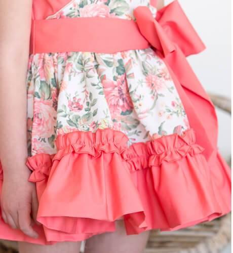 Vestido niña estampado coral de Nekenia | Aiana Larocca
