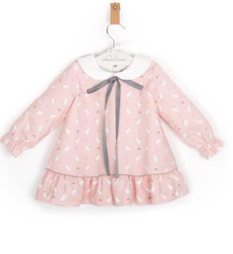 Vestido niña rosa gatitos de Rochy | Aiana Larocca